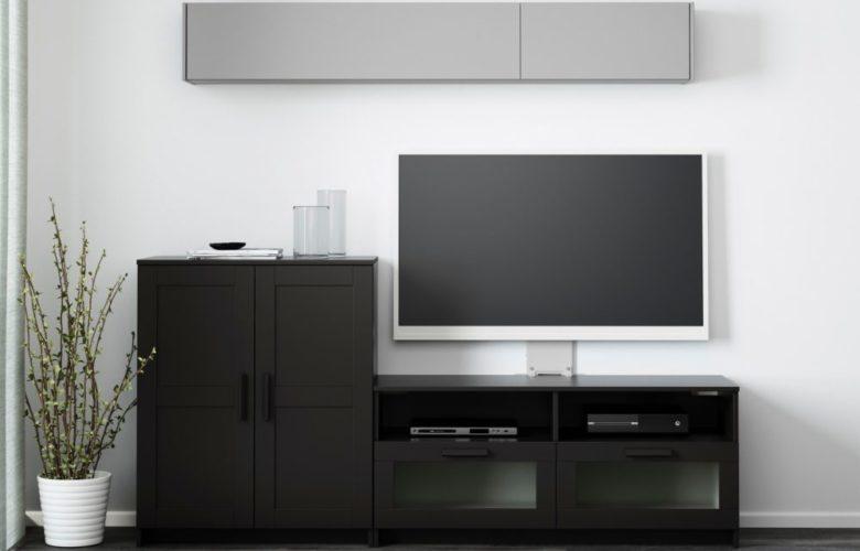 Soldes Ikea Maroc Combinaison meuble TV noir BRIMNES 1994Dhs au lieu de 2190Dhs
