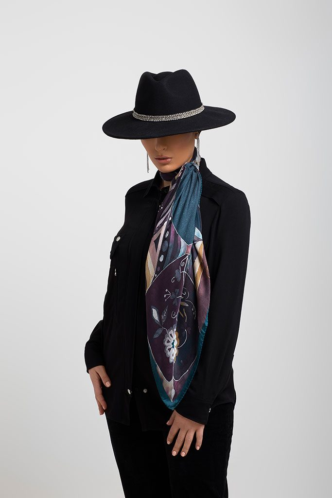 Lookbook Diamantine Châle et foulard 2019