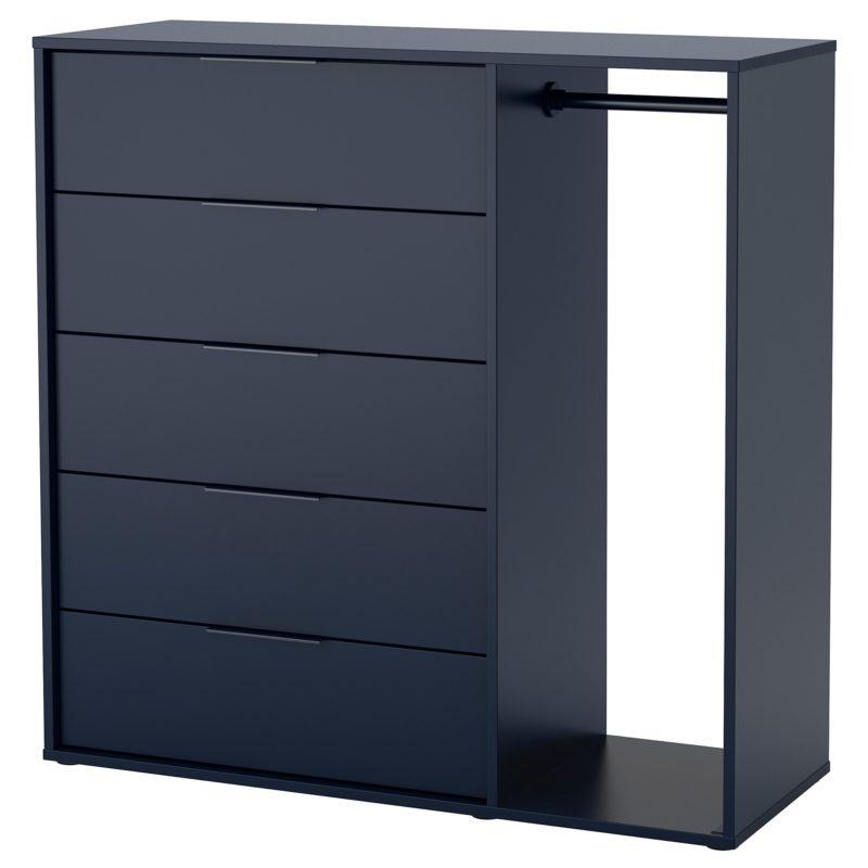 Nouveau chez Ikea Maroc Commode avec tringle NORDMELA bleu-noir 2995Dhs