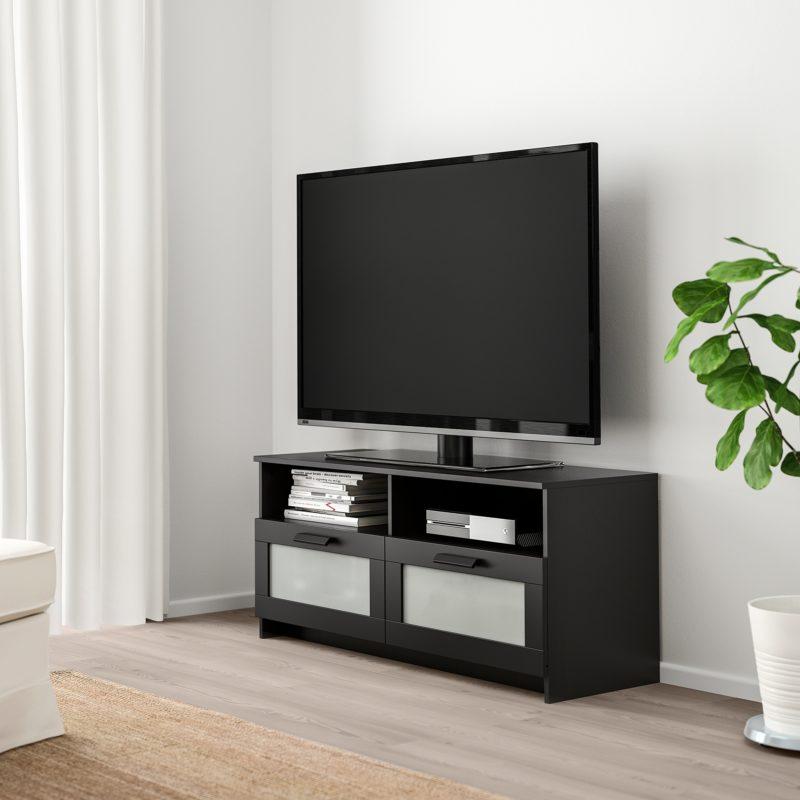 Soldes Ikea Maroc Meuble TV BRIMNES noir 899Dhs au lieu de 1095Dhs