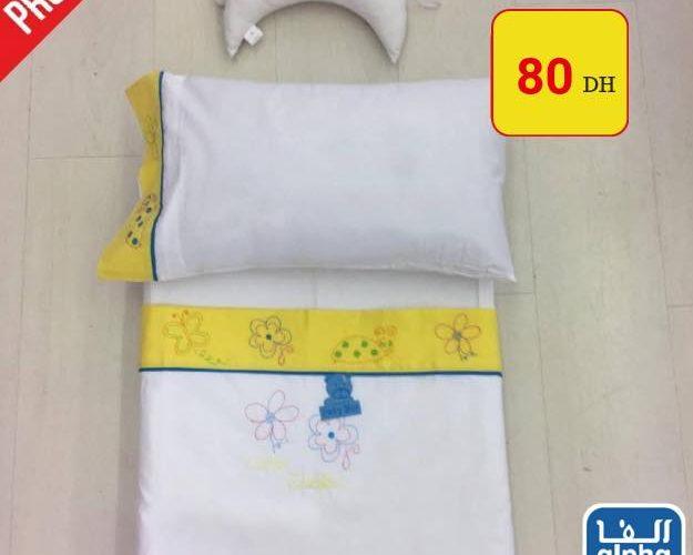 Promo Alpha55 Draps pour bébé housse + Draps + taie d'oreiller