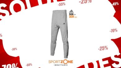 Soldes Sport Zone Maroc Jogging Adidas homme 331Dhs au lieu de 509Dhs