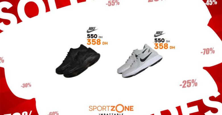 Promo Sport Zone Maroc Chaussure Sport Nike 358Dhs au lieu de 550Dhs