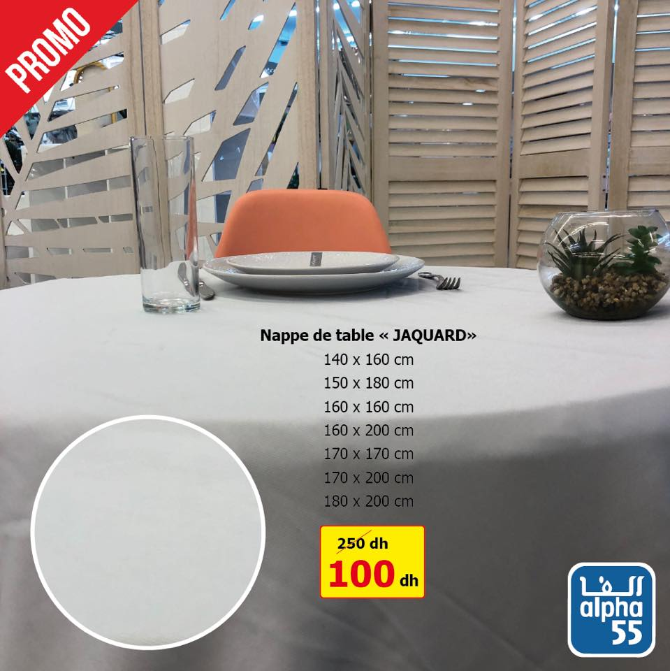 Promo Alpha55 Grande Collection de nappe de table
