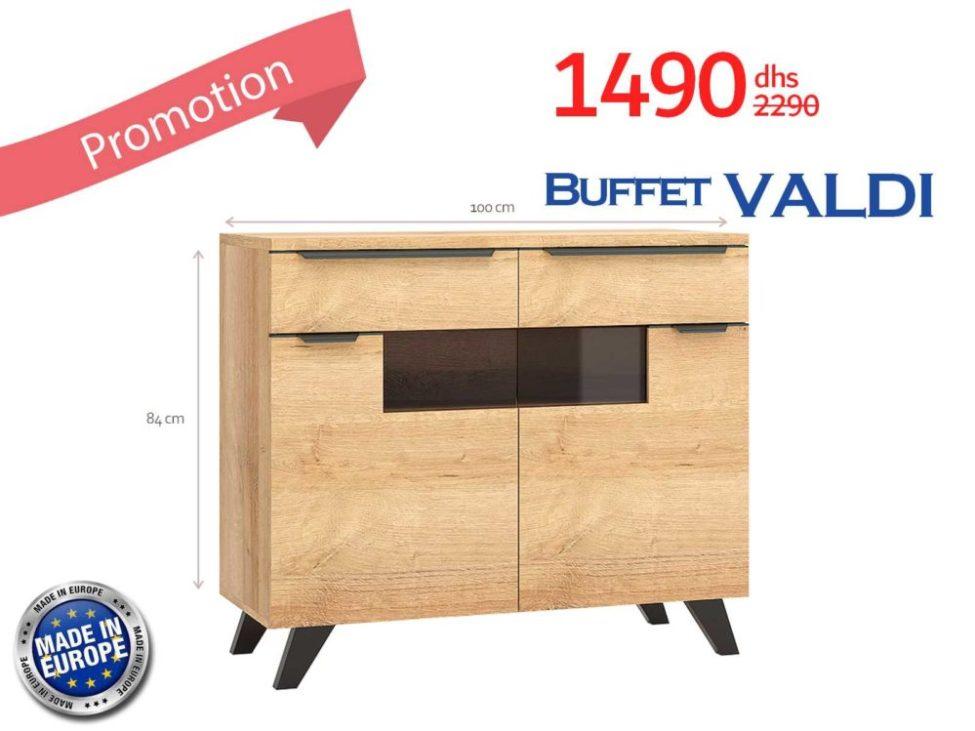 Soldes Azura Home BUFFET VALDI 100 CM 1490Dhs au lieu de 2290Dhs