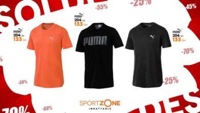 Soldes Sport Zone Maroc Tee-shirt PUMA 133Dhs au lieu de 204Dhs