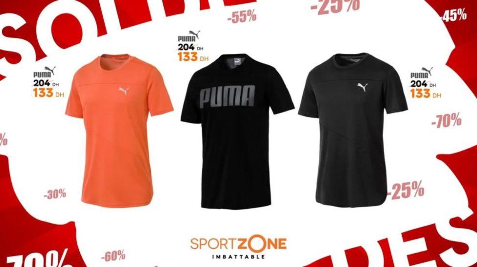 Au Tee 204dhs 133dhs Maroc De Shirt Lieu Soldes Zone Sport Puma MLSpVGqUz