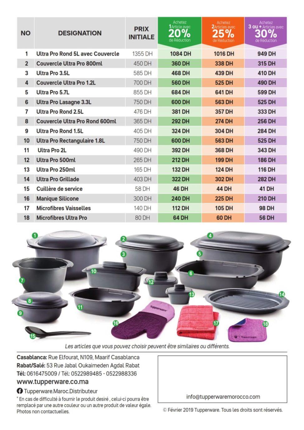 Catalogue Ultra Pro délices Tupperware Maroc jusqu'au 10 Mars 2019