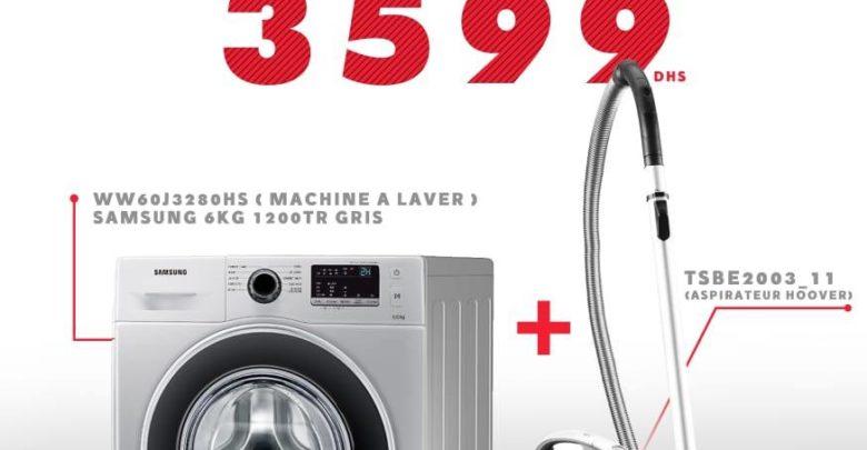 Photo of Promo Spéciale Abroun Electro Lave-linge + Aspirateur 3599Dhs au lieu de 4299Dhs