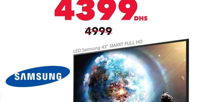 Promo Spéciale Abroun Electro Smart TV 43° Samsung 4399Dhs au lieu de 4999Dhs