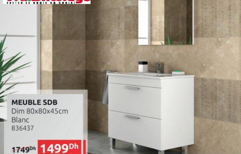 Promo Mr Bricolage Maroc Meuble salle de bain 1499Dhs au lieu de 1749Dhs
