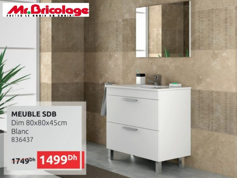 promo mr bricolage maroc meuble salle de bain 1499dhs au. Black Bedroom Furniture Sets. Home Design Ideas