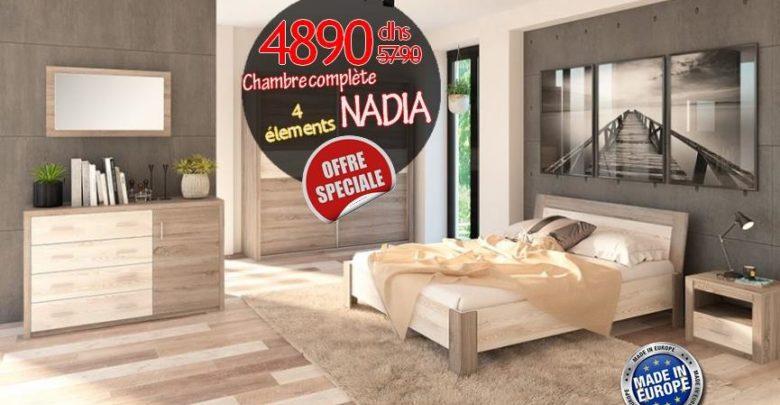 Photo of Soldes Azura Home Chambre complète NADIA 4890Dhs au lieu de 9985Dhs