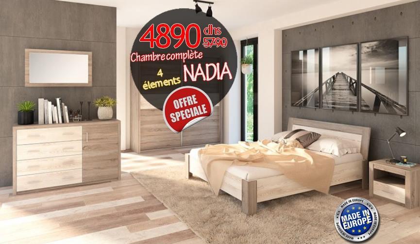 Soldes Azura Home Chambre complète NADIA 4890Dhs au lieu de 9985Dhs