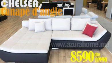 Soldes Azura Home CANAPÉ D'ANGLE CHELSEA 294X195CM 8590Dhs au lieu de 11990Dhs