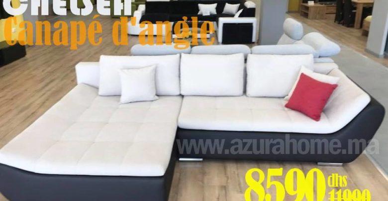 Photo of Soldes Azura Home CANAPÉ D'ANGLE CHELSEA 294X195CM 8590Dhs au lieu de 11990Dhs