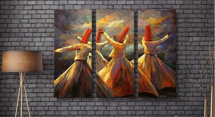 Photo of Soldes Massinart Tableau décoratif Dervish dance imprimé en HD 494Dhs au lieu de 549Dhs