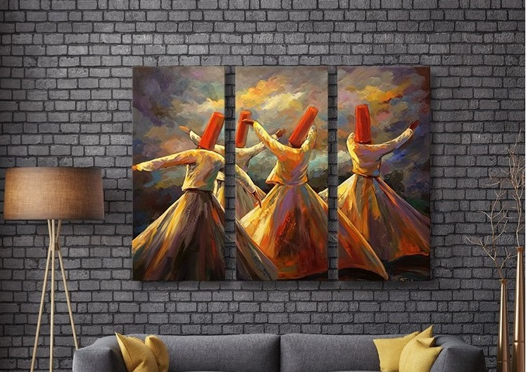 Soldes Massinart Tableau décoratif Dervish dance imprimé en HD 494Dhs au lieu de 549Dhs