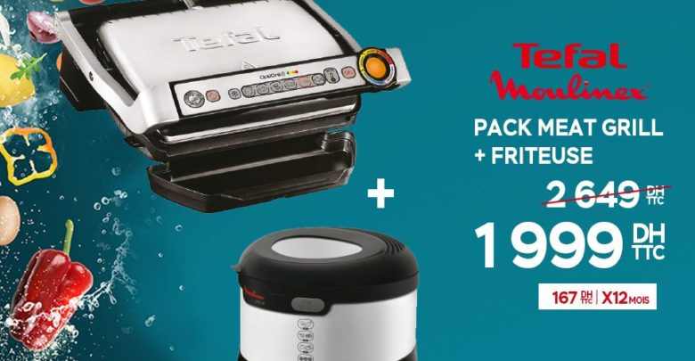 Photo of Promo Electroplanet Pack MEAT Grill + Friteuse 1999Dhs au lieu de 2649Dhs