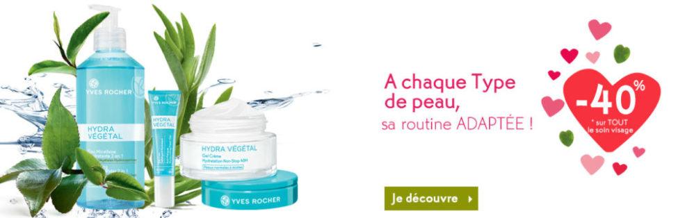 Promo Février Yves Rocher Maroc -40% sur TOUT le soin visage
