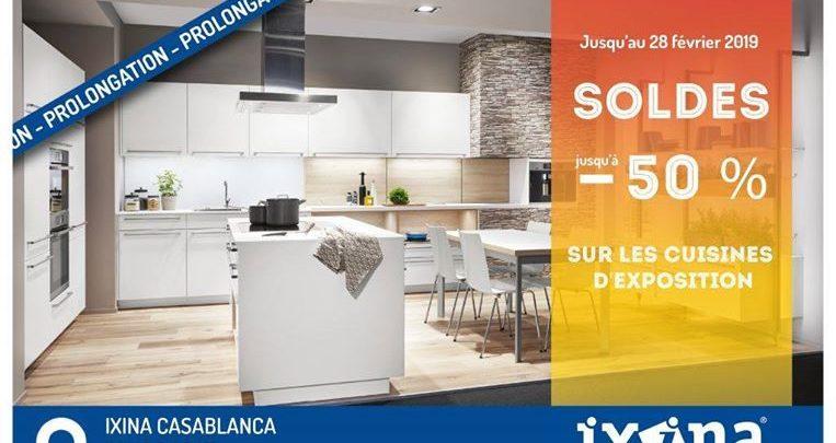 Promo Ixina German Kitchens -50% Cuisines d'exposition Jusqu'au 28 Février 2019