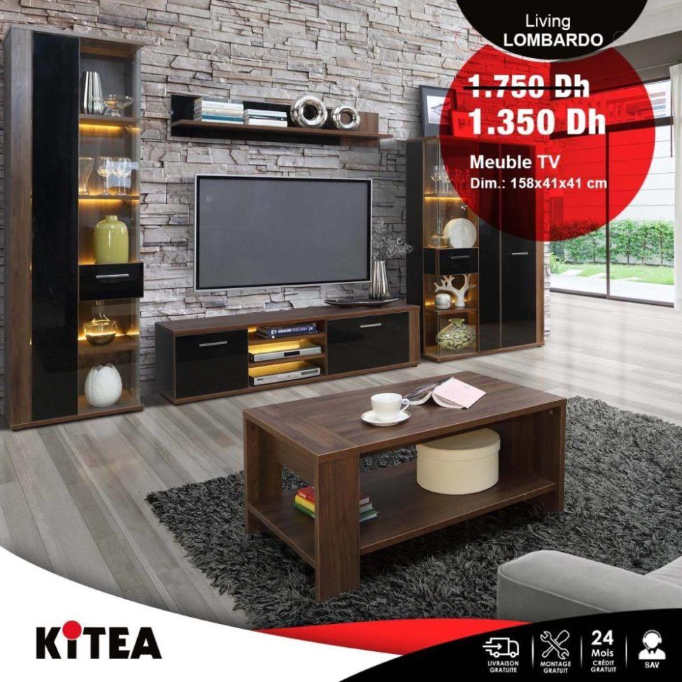 Soldes Kitea Meuble TV LOMBARDO 1350Dhs au lieu de 1750Dhs
