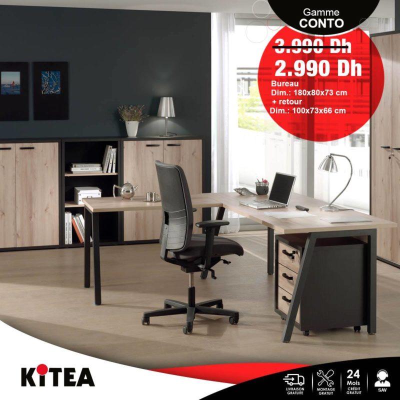 Promo Kitea Bureau CONTO 2990Dhs au lieu de 3990Dhs