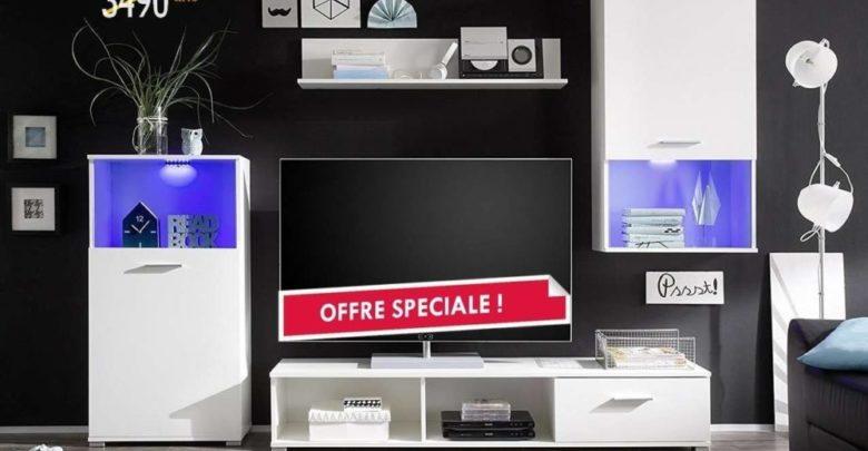 Soldes Azura Home ENSEMBLE MEUBLE TV LUCKY 2490Dhs au lieu de 3490Dhs