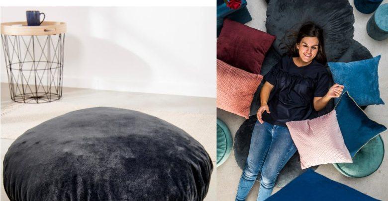 Photo of Nouveau chez casa Maroc PARTOUT Pouf gris 80cm 574Dhs