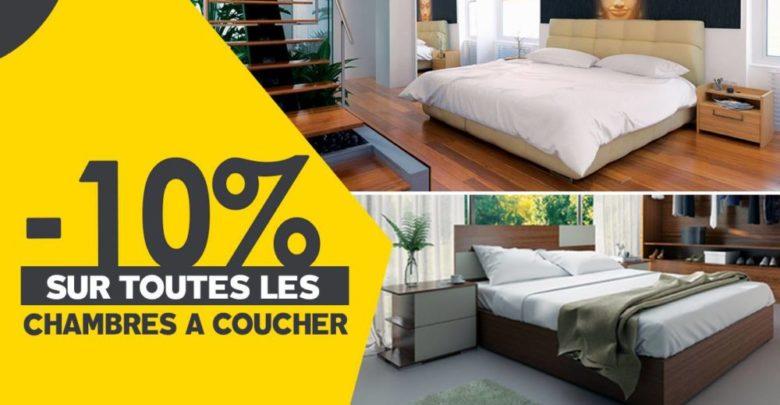 Promo Richbond -10% sur les Chambres à coucher Jusqu'au 15 Mars 2019