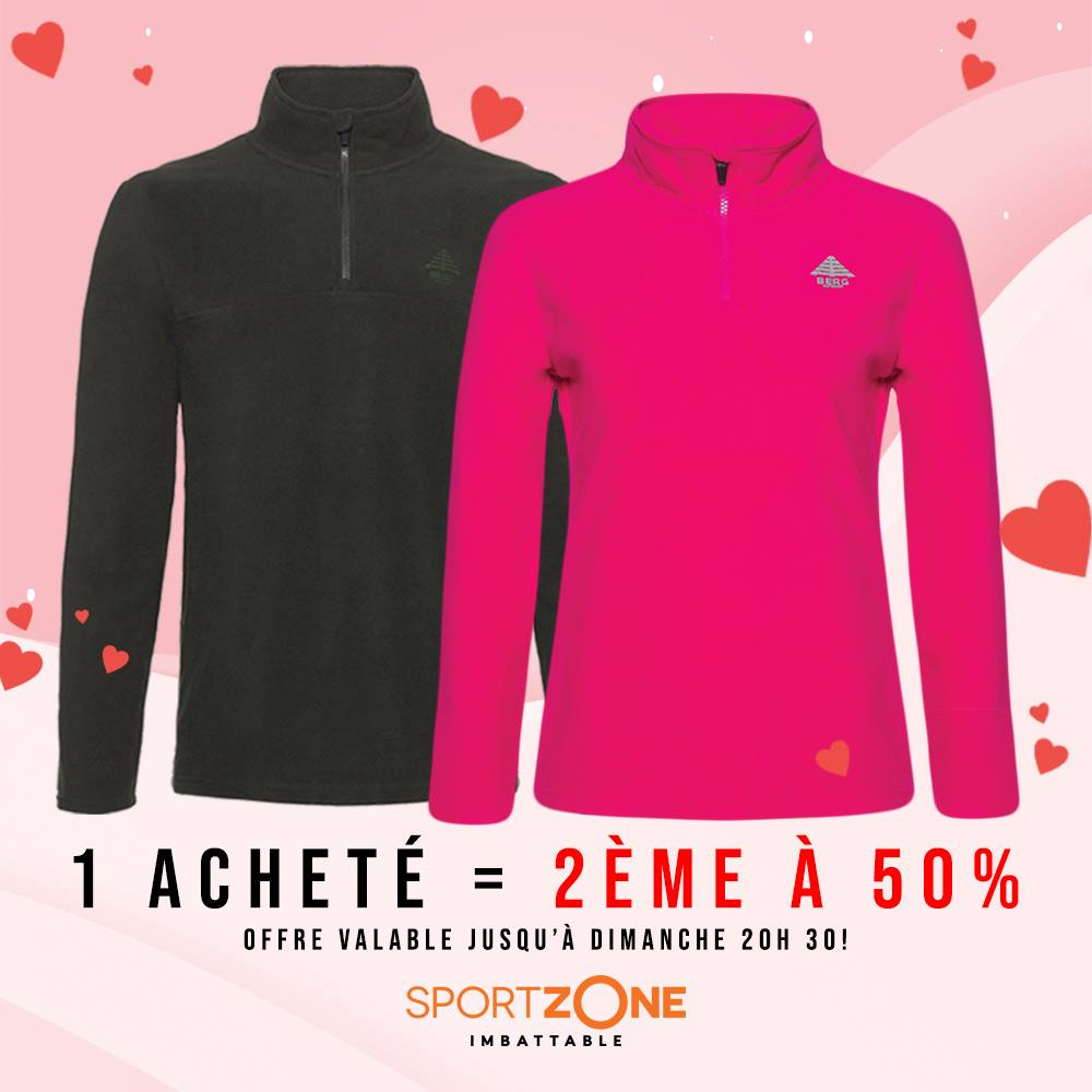 Promo Sport Zone Maroc 1 Acheté - 2ème à 50%