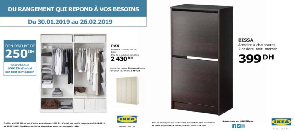 Flyer Ikea Maroc Spéciale Bon d'achat 250Dhs Jusqu'au 26 Février 2019