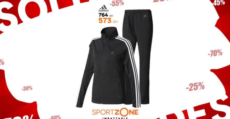 Photo of Soldes Sport Zone Maroc Survêtement Adidas 573Dhs au lieu de 764Dhs