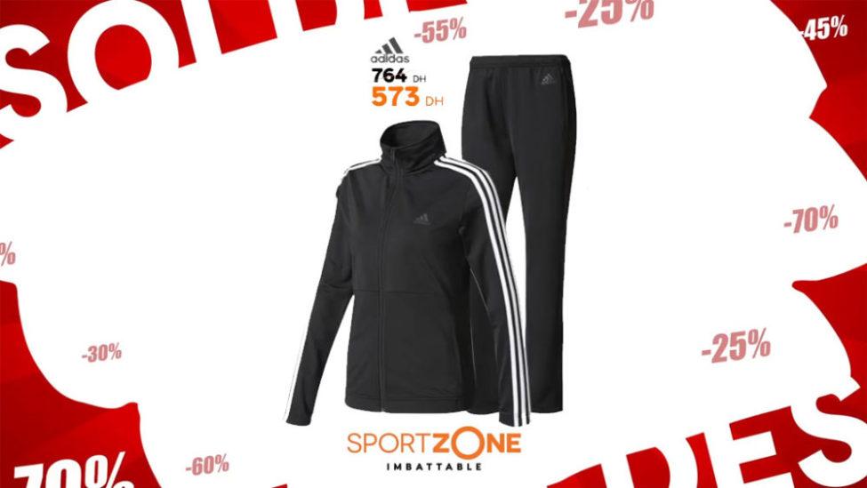 Soldes Sport Zone Maroc Survêtement Adidas 573Dhs au lieu de 764Dhs