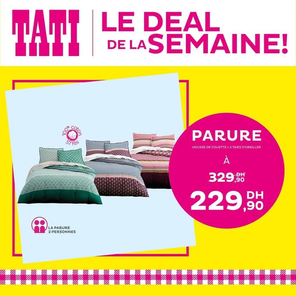 Deal de la semaine Tati Maroc Parure housse + 2 taies 229Dhs au lieu de 329Dhs