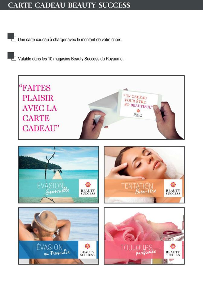 Flyer Beauty Success Cadeaux d'affaires jusqu'au 16 Avril 2019
