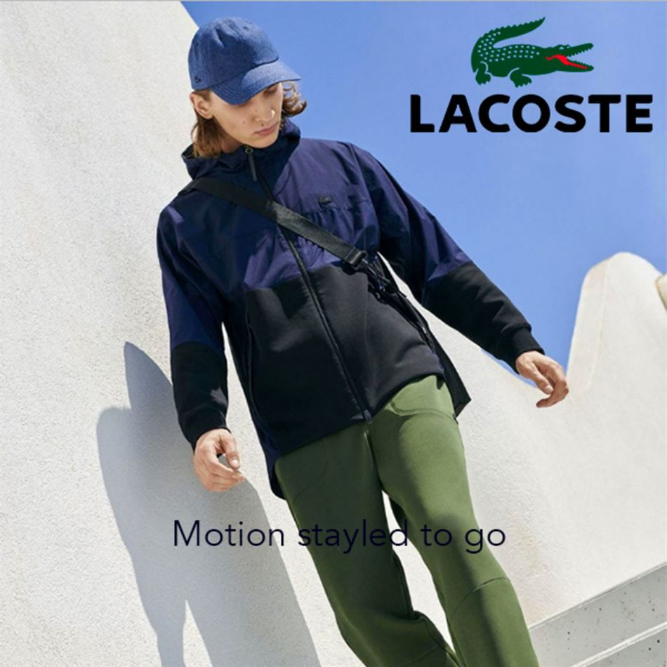 Lookbook LACOSTE Maroc Motion Men Jusqu'au 25 Mars 2019