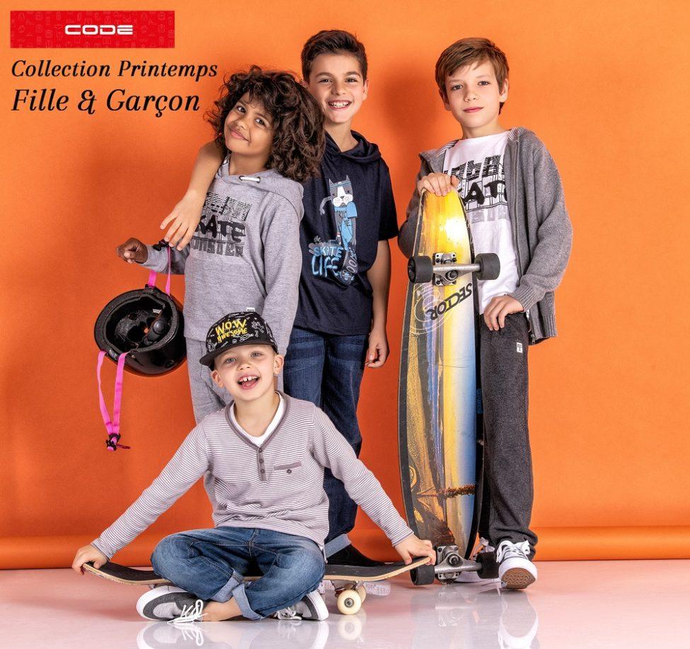 Lookbook CODE Collection Printemps Fille & Garçon chez Aswak Assalam
