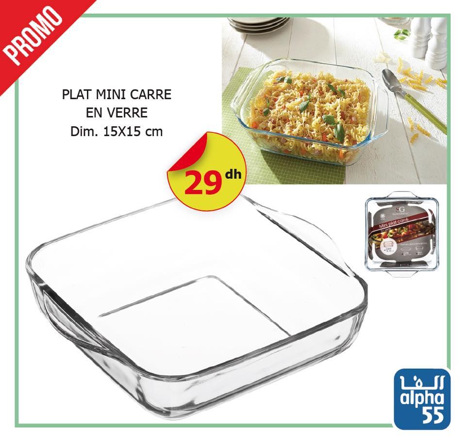 Promo Alpha55 Grande Sélection Plat à four plats de cuisson en verre