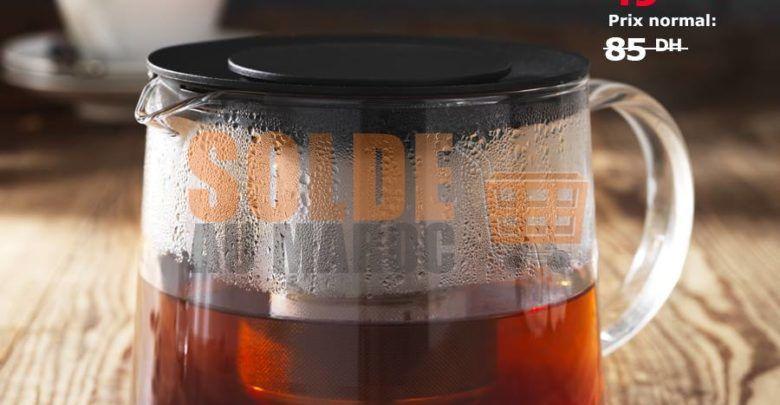 Photo of Soldes Ikea Maroc Théière en verre 0.6L 49Dhs au lieu de 85Dhs