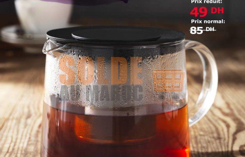 Soldes Ikea Maroc Théière en verre 0.6L 49Dhs au lieu de 85Dhs