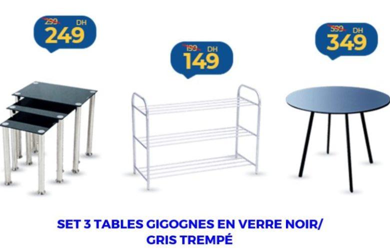 Promo Marjane sélection de Tables