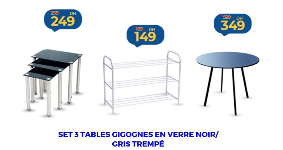Promo Marjane sélection de Tables