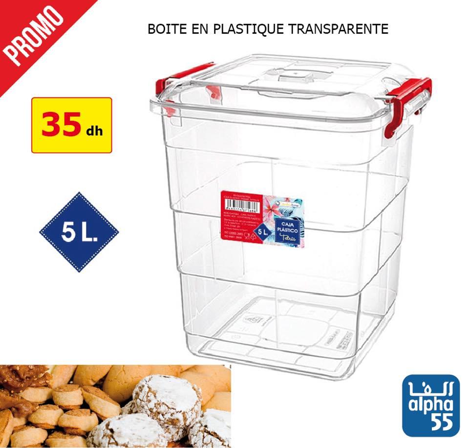 Promo أهلا رمضان Alpha55 Boites rangement gateaux en plastique transparente