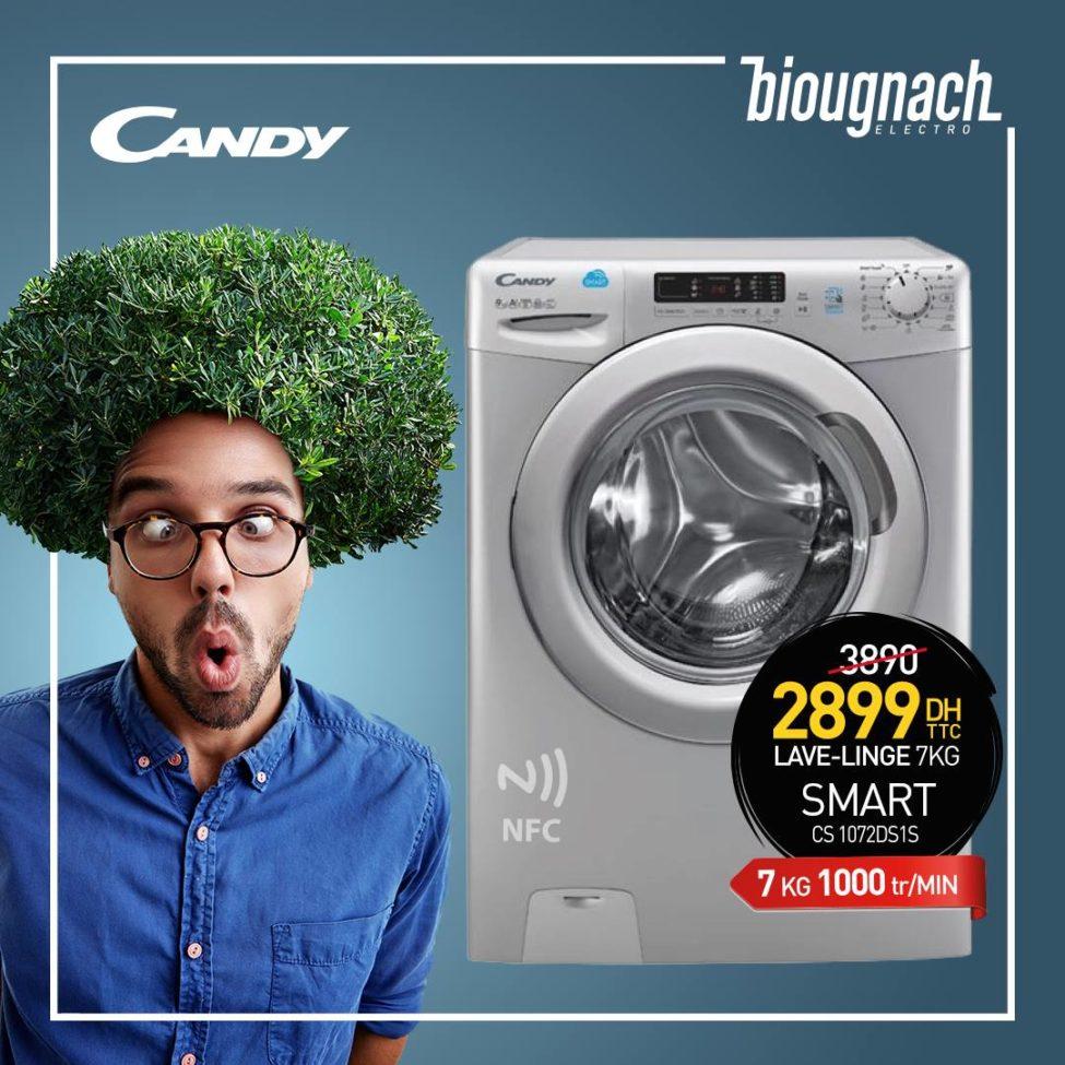 promo biougnach electro machine laver candy smart 7kg. Black Bedroom Furniture Sets. Home Design Ideas