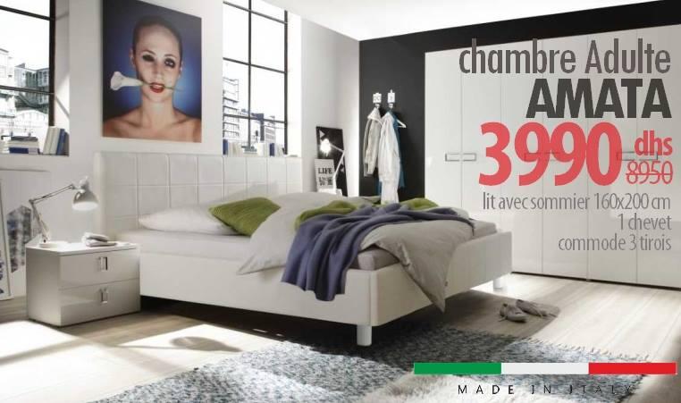 Soldes Azura Home Chambre complète AMATA 3990Dhs au lieu de 8950Dhs
