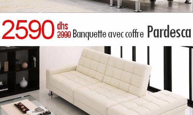 Photo of Soldes Azura Home BANQUETTE CLIC CLAC PARDESCA 2590Dhs au lieu de 2990Dhs