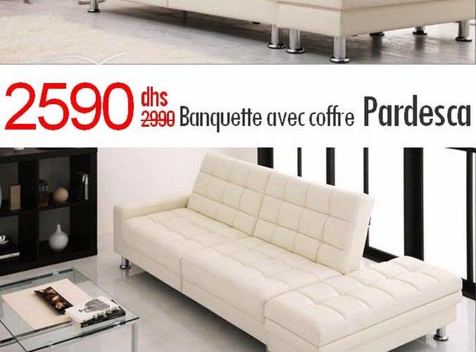 Soldes Azura Home BANQUETTE CLIC CLAC PARDESCA 2590Dhs au lieu de 2937Dhs