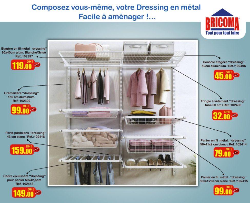 Promo Bricoma Accessoires pour composer dressing en métal