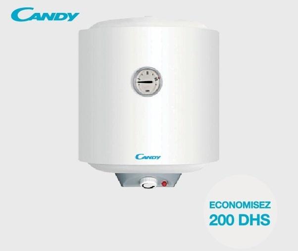 Soldes Aswak Assalam Chauffe-eau électrique CANDY 899Dhs au lieu de 1099Dhs